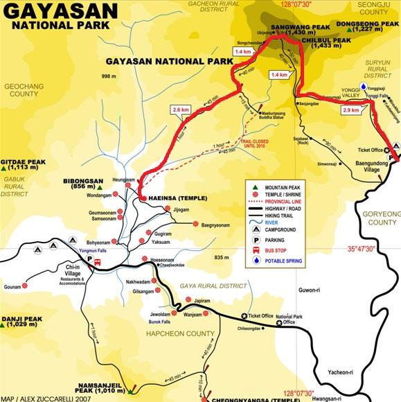 gayasan national park - map